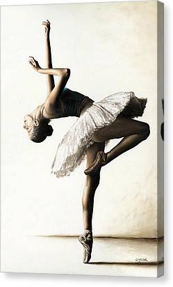 Tutu Canvas Print - Reaching For Perfect Grace by Richard Young