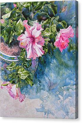 Reaching For Pretty Pink Canvas Print