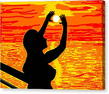 Reaching To The Sun Canvas Print by Anand Swaroop Manchiraju