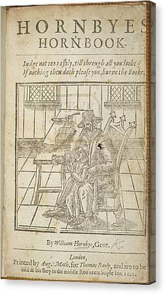 Reading A Book Canvas Print by British Library