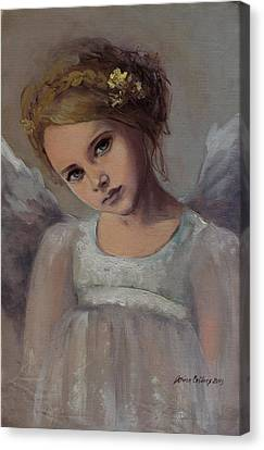 Reading Into Your Soul  Canvas Print by Dorina  Costras