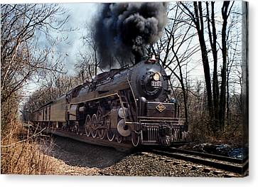 Canvas Print featuring the photograph Reading Line 2100 by Judi Quelland