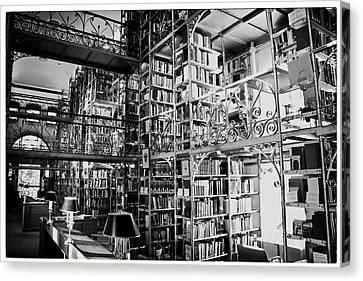 Reading Room At Cornell University Canvas Print by Georgia Fowler