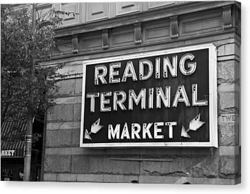Reading Terminal Market Canvas Print by Jennifer Ancker
