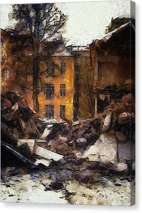 Ready For Demolition Canvas Print by Gun Legler