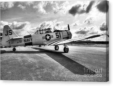 Ready For Takeoff 2 Bw Canvas Print
