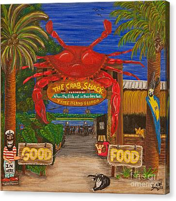 Ready For The Day At The Crab Shack Canvas Print