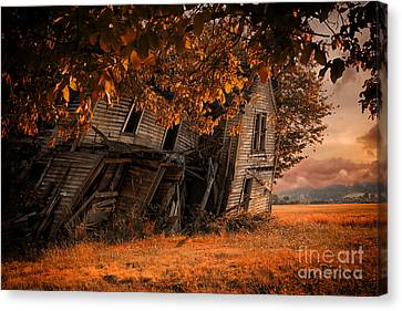 Abandoned House Canvas Print - Ready To Fall by Danielle Denham