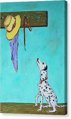 Ready To Go Out Canvas Print by Xueling Zou