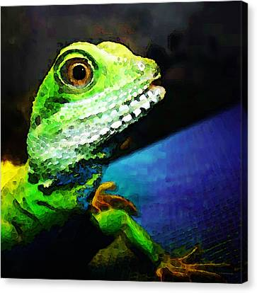 Ready To Leap - Lizard Art By Sharon Cummings Canvas Print by Sharon Cummings