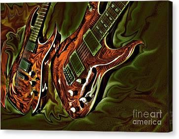 Ready To Rock Digital Guitar Art By Steven Langston Canvas Print by Steven Lebron Langston