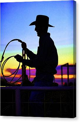 Ready To Rope I Canvas Print by Toni Hopper