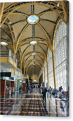 Canvas Print featuring the photograph Reagan National Airport by Suzanne Stout