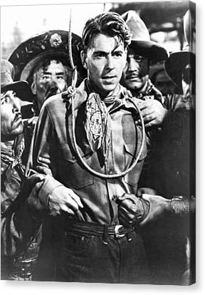 Reagan Western Film Still Canvas Print by Underwood Archives