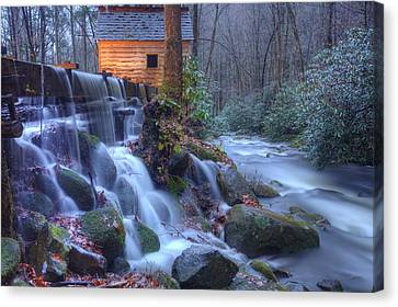 Canvas Print featuring the photograph Reagan's Mill by Doug McPherson