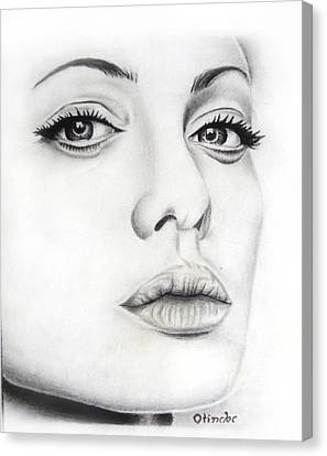 Real Angelina Canvas Print by Atinderpal Singh