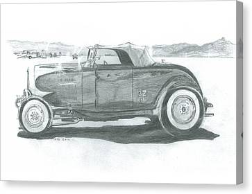 Salt Flats Canvas Print - Real Car Guy...real Car by Stacey Becker