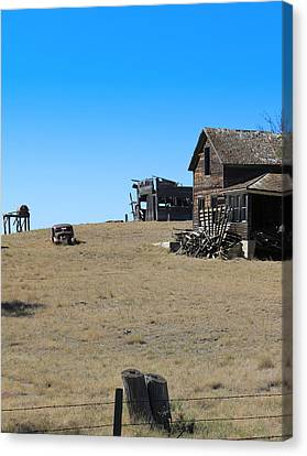 Canvas Print featuring the photograph Real Estate On The Open Plain by Kathleen Scanlan