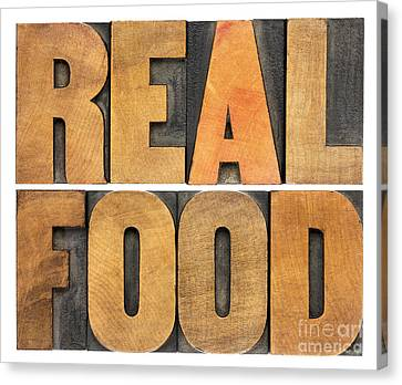 Real Food Canvas Print