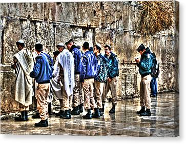 Canvas Print featuring the photograph Real Homeland Security In Israel by Doc Braham