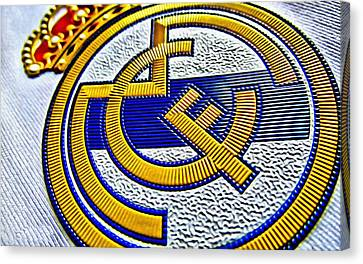 Real Madrid Poster Art Canvas Print by Florian Rodarte