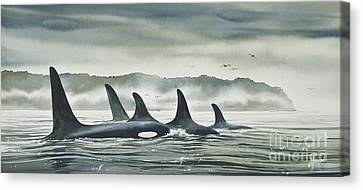 Realm Of The Orca Canvas Print by James Williamson