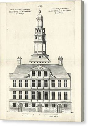 Rear Of The Town Hall Of Maastricht The Netherlands Canvas Print by Quint Lox