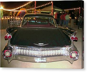 Rear View Black And Chrome Beauty Canvas Print by Donna Wilson