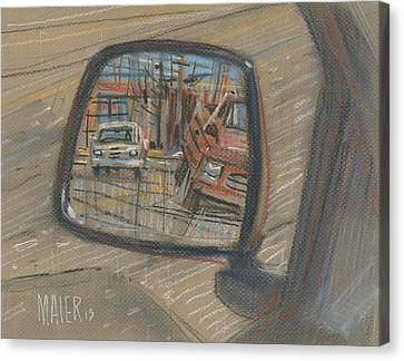 Mirror Canvas Print - Rear View by Donald Maier
