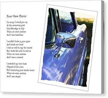 Rear-view Mirror Canvas Print by Rebecca Cozart