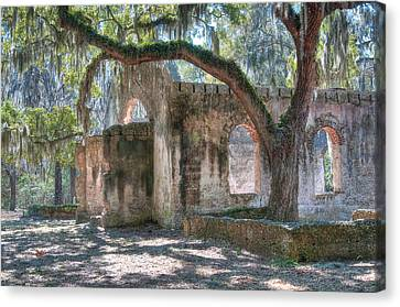 Rear View Of The Chapel Of Ease Canvas Print