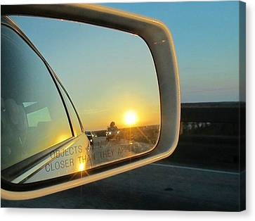 Rear View Sunset Canvas Print