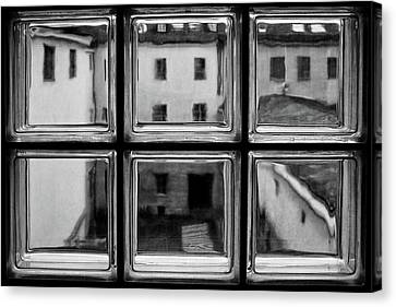Rear Window Canvas Print by Roswitha Schleicher-schwarz