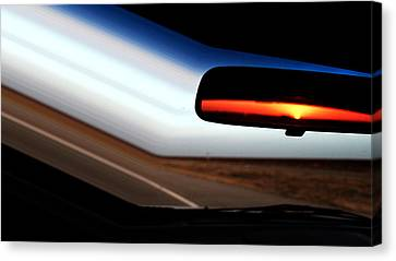 Rearview Sunset Canvas Print