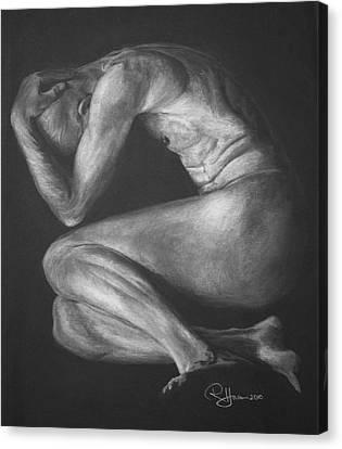 Canvas Print featuring the drawing Reawakenings by Rachel Hames