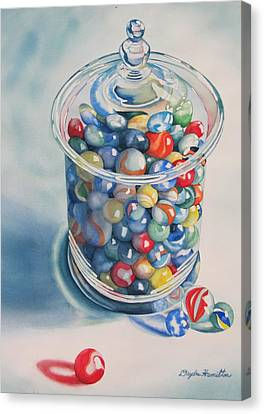 Rebecca's Marbles Canvas Print