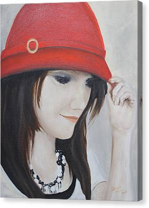 Rebecca's Red Hat Canvas Print