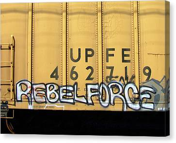 Rebel Force Canvas Print by Donna Blackhall