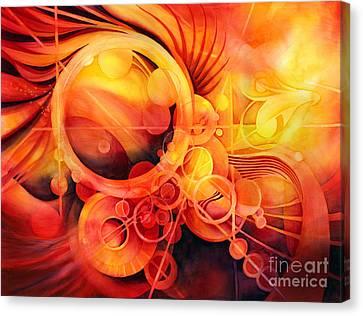 Rebirth - Phoenix Canvas Print by Hailey E Herrera