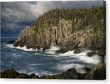 Canvas Print featuring the photograph Receding Storm At Gulliver's Hole by Marty Saccone