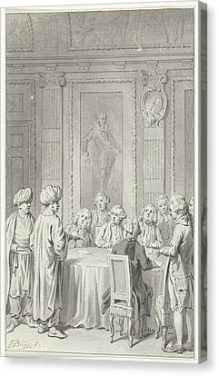Moroccan Canvas Print - Receipt Of The Moroccan Envoy By The States General by Quint Lox