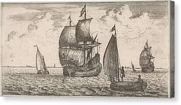 Receipt Of The Post At Sea, Jacob Quack, Jan Houwens Canvas Print
