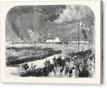 Reception Of The Belgian Riflemen At The Camp On Wimbledon Canvas Print