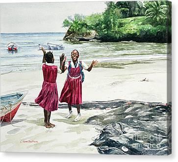Recess At The Bay Canvas Print