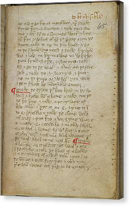 Recipe For Invisibility Canvas Print by British Library