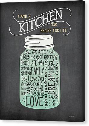 Recipe Jar Canvas Print by Jo Moulton