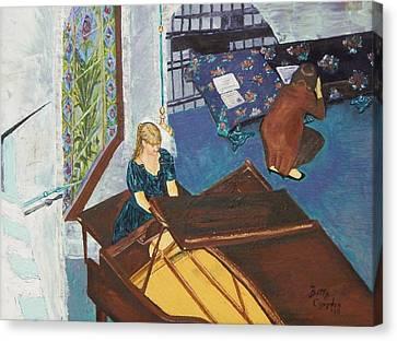 Recital Rehersal Canvas Print by Betty Compton