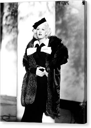 Reckless, Jean Harlow, In A Suit Canvas Print