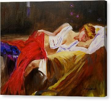 Reclining Beauty Canvas Print