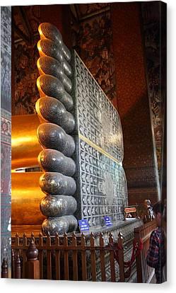 Reclining Buddha - Wat Pho - Bangkok Thailand - 01137 Canvas Print